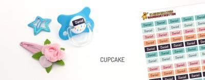 Mini-Aufkleber für Minidinge Cupcake