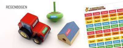 Mini-Aufkleber für Minidinge Regenbogen