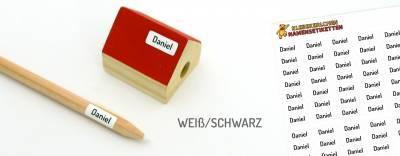 Mini-Aufkleber für Minidinge Weiß/Schwarz