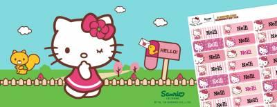 Hello Kitty Namensaufkleber