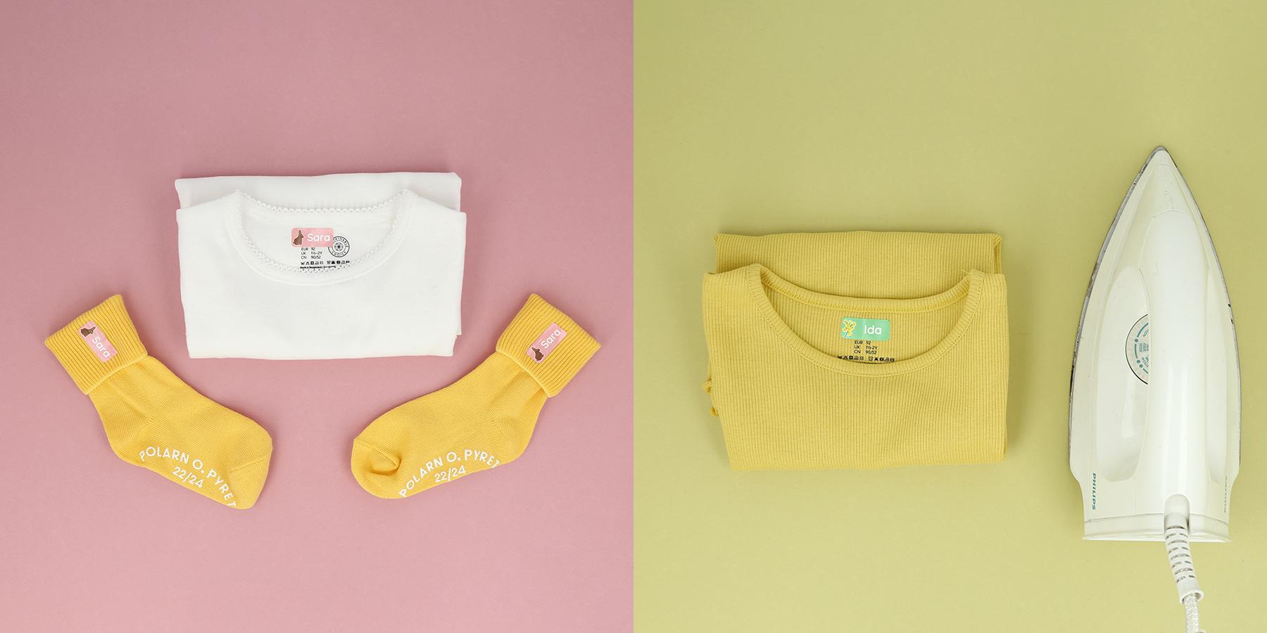 Bügeletiketten für Kleidung - Unsere Namensetiketten