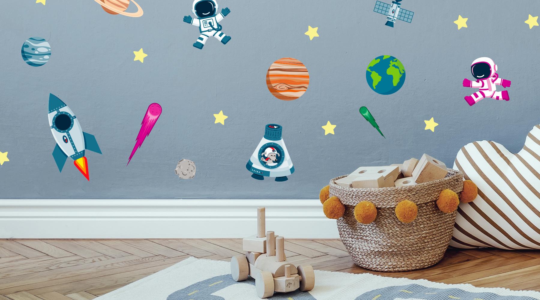 Wandsticker mit Weltraum