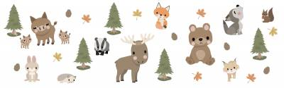 Wandsticker: Waldtiere
