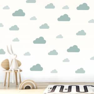 Wandsticker: Wolken