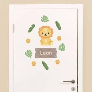 Tür-Sticker: Dschungel-Tiere