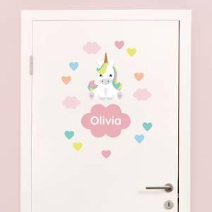Tür-Sticker: Einhorn