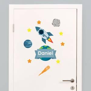 Tür-Sticker: Weltraum