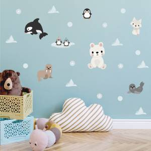 Wandsticker arktische Tiere - Magische Kinderzimmer