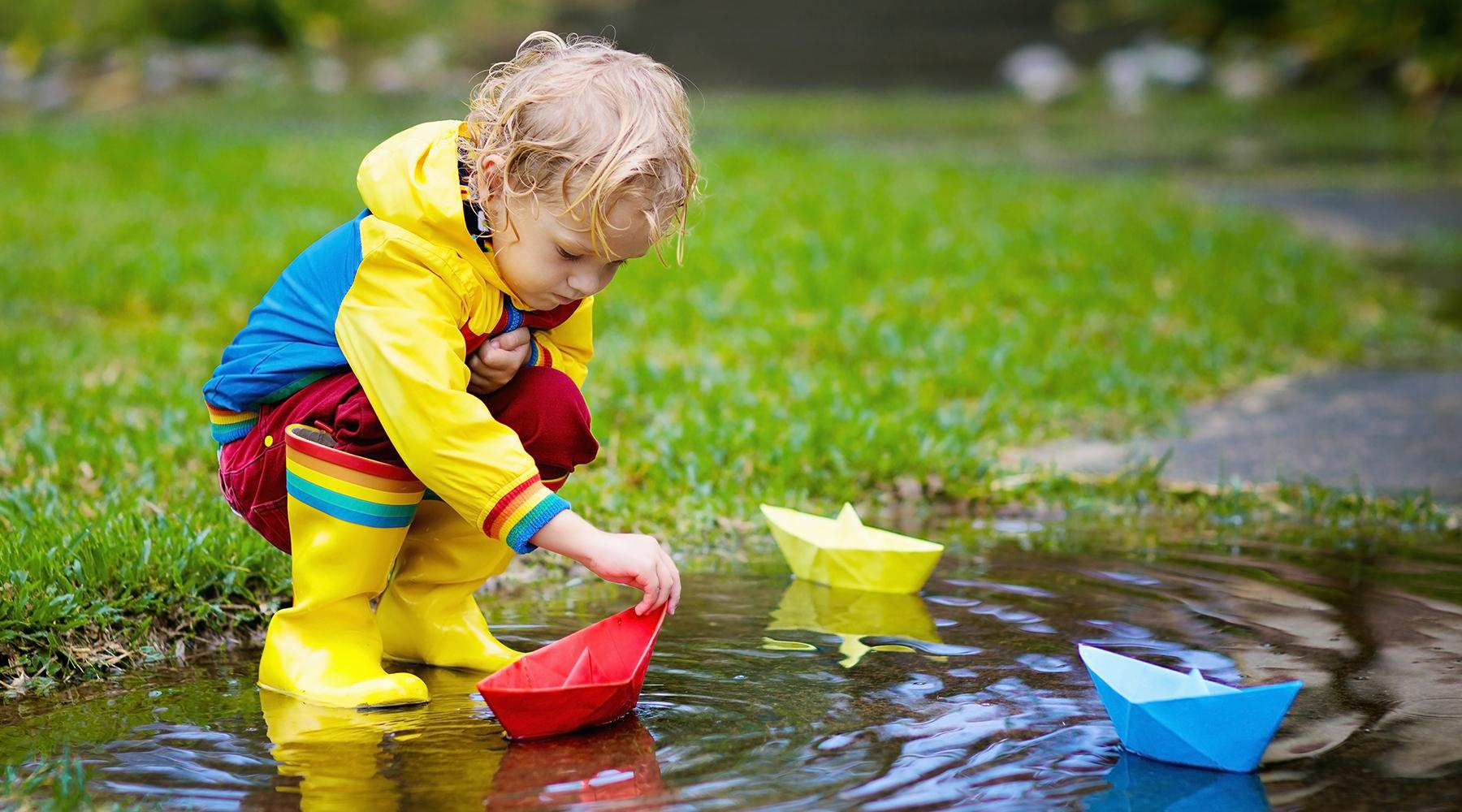 Frühlingsaktivitäten an Regentagen