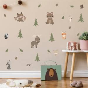 Wandsticker mit den Tieren des Waldes - Magische Kinderzimmer