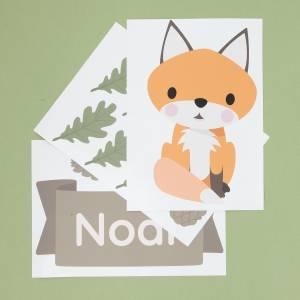 Tür-Sticker Waldtiere