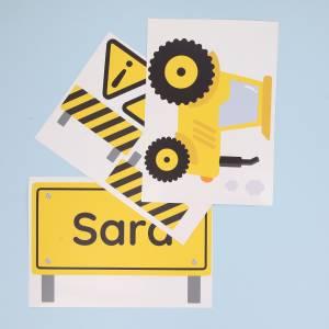 Tür-Sticker Baufahrzeuge
