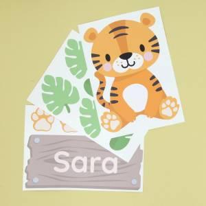 Tür-Sticker Dschungel-Tiere