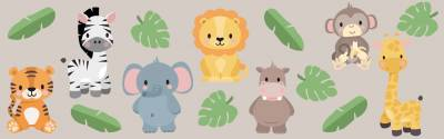 Wandsticker: Dschungel-Tiere