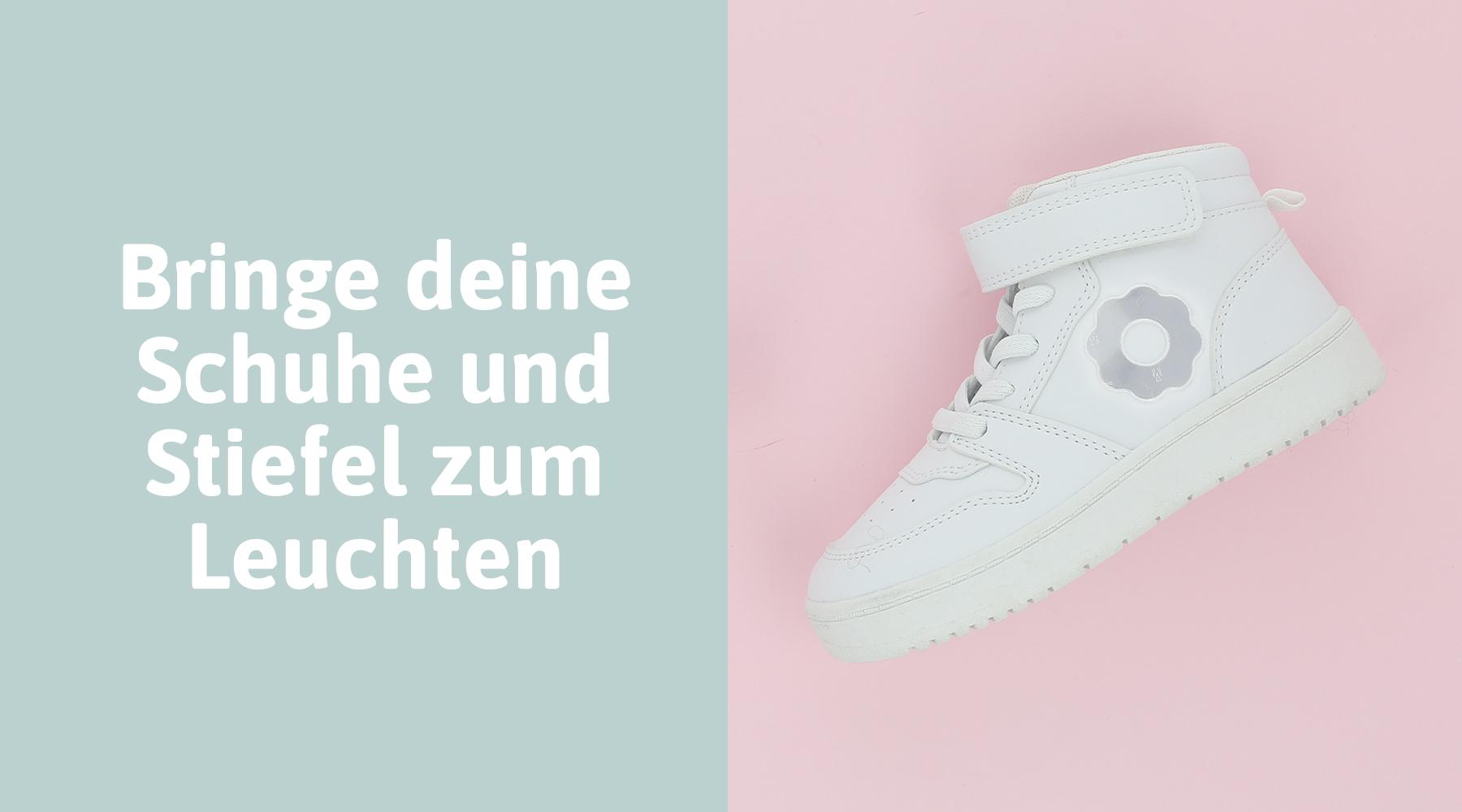 Schuhe mit Reflektoren